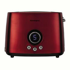 Kensington Toaster 2 Slice Stainless Steel Digital Red