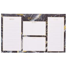 Stylo Marble Desk Planner Pad with Gold Foil