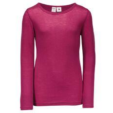 Basics Brand Girls' Thermal Merino Long Sleeve Top