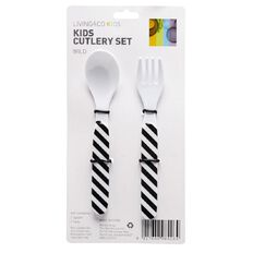 Living & Co Kids Cutlery Wild One