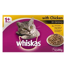 Whiskas Chicken in Gravy Pouch 12 Pack