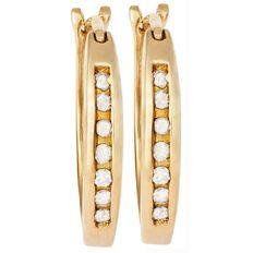 9ct Gold Diamond Channel Set Earrings