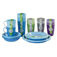 Sistema Large Plates 3 Pack Assorted Colours