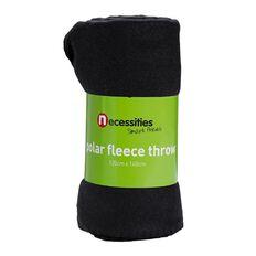 Necessities Brand Throw Plain Polar Fleece