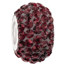 Ane Si Dora Sterling Silver Dark Red Crystal Charm