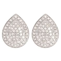 1/2 Carat of Diamonds 9ct Gold Diamond Pear Shape Earrings