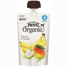 Heinz Organic Banana Mango Pouch 120g