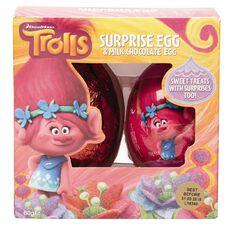 Trolls Kinnerton Plastic Surprise Egg 60g
