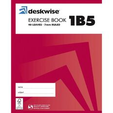 Deskwise Exercise Book 1B5 7mm Ruled 40 Leaf