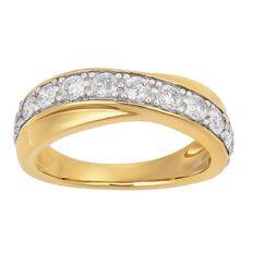 1 Carat of Diamonds 9ct Gold Diamond Channel Ring