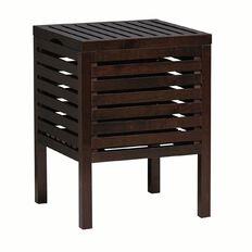 Ikea Molger Storage Stool Dark Brown