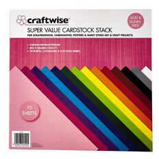 Craftwise Cardstock 30cm x 30cm 200g 70 Sheets