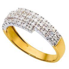 1/4 Carat of Diamonds 9ct Gold Diamond Multi Channel Ring