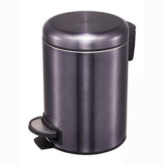 Living & Co Stainless Steel Slow Close Pedal Bin Black 20L