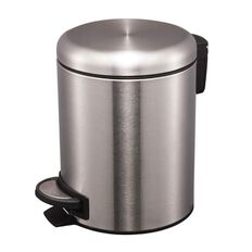 Living & Co Stainless Steel Slow Close Pedal Bin Silver 5L