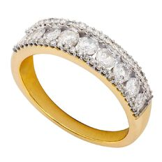 1 Carat of Diamonds 9ct Gold Diamond Channel Ring