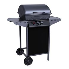 Living & Co Wagon Grill with Foldable Side Shelves