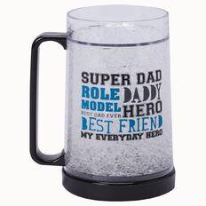Living & Co Gifts Freezy Beer Mug Super Dad 500ml