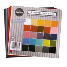Rosie's Studio Scrapbook Paper Neutrals 6in x 6in 100gsm 100 Pack