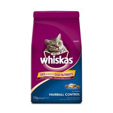 Whiskas Dry Cat Food Hairball 1.5kg