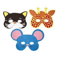 Play Studio EVA Animal Mask Assorted Cat or Mouse or Tiger or Zebra