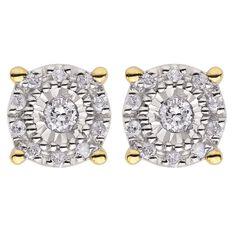 1/4 Carat of Diamonds 9ct Gold Stud Earrings