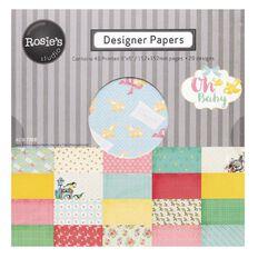 Rosie's Studio Oh Baby Designer Paper Pad 40 Sheet 6in x 6in