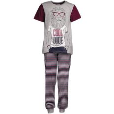 H&H Boys' Short Sleeve Long Leg Knit Pyjamas