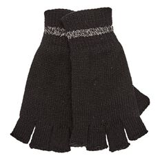 Rivet Men's Half Finger Thermal Gloves