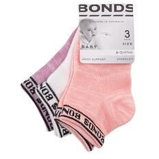 Bonds Babys' Sports Socks 3 Pack
