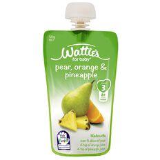 Wattie's Pear Orange and Pineapple Pouch 120g