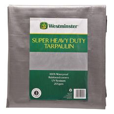 Westminster Tarpaulin Silver/Black 205gsm 6ft x 8ft