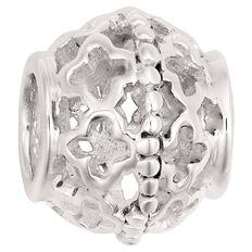 Ane Si Dora Sterling Silver Floral Pattern Charm