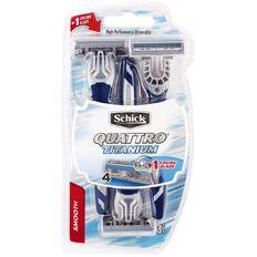 Schick Quattro Disposable Razor 3 Pack
