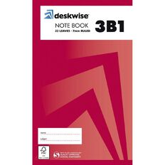 Deskwise Notebook 3B1 7mm Ruled 32 Leaf
