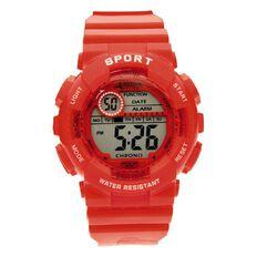 Active Intent Men's Digital Watch Red