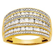 1 Carat Diamond Channel 10ct Gold Diamond Ring