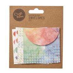Craftwise Watercolour Envelopes 6 Piece