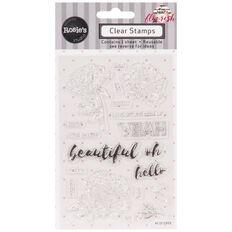 Rosie's Studio Flourish Clear Stamps