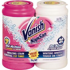 Napisan Vanish OxiAction 1kg + Crystal White 1kg Value Pack