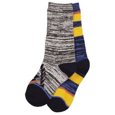 H&H Boys' Ribbed Crew Socks 2 Pack