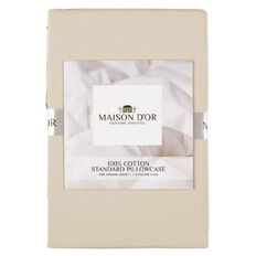 Maison d'Or Pillowcase 400 Thread Count Taupe