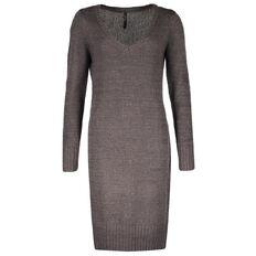 Garage Deep V-Neck Knitted Dress