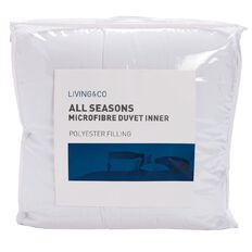 Living & Co Duvet Inner All Seasons Polyester Microfibre 255g