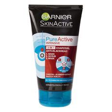 Garnier Pure Active 3-in-1 Charcoal Face Wash 150ml