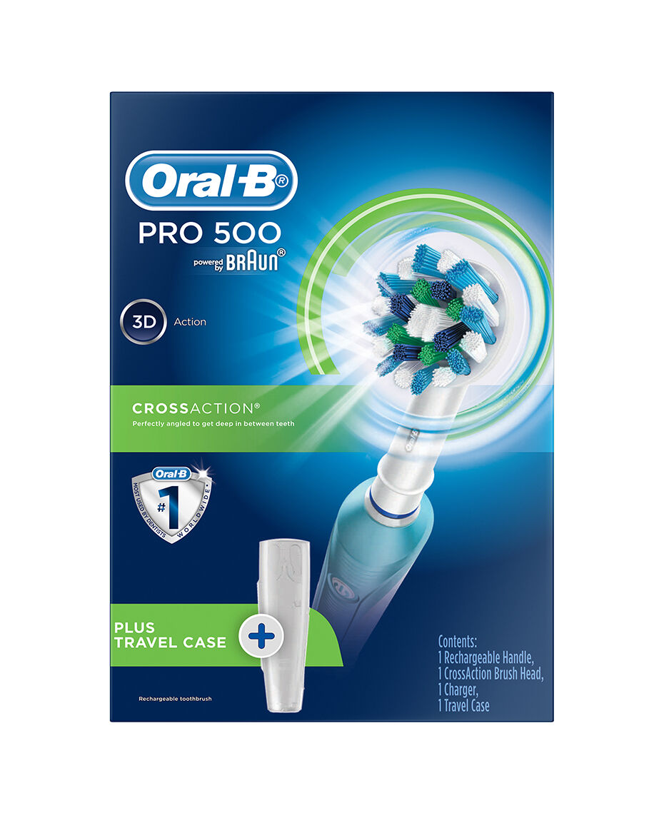 Oral B Pro 500 Electric Toothbrush Incl Travel Case