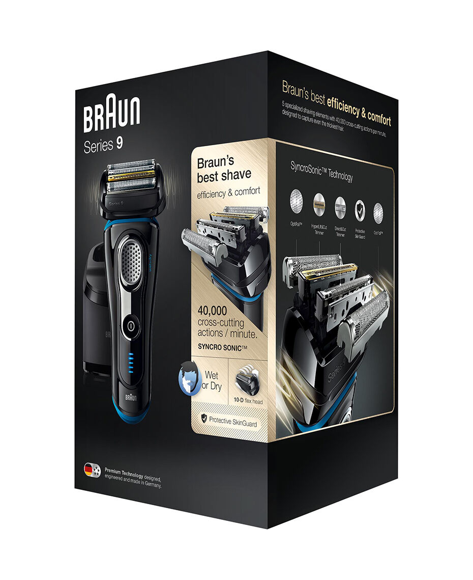 how to clean braun series 9 without cleaning center