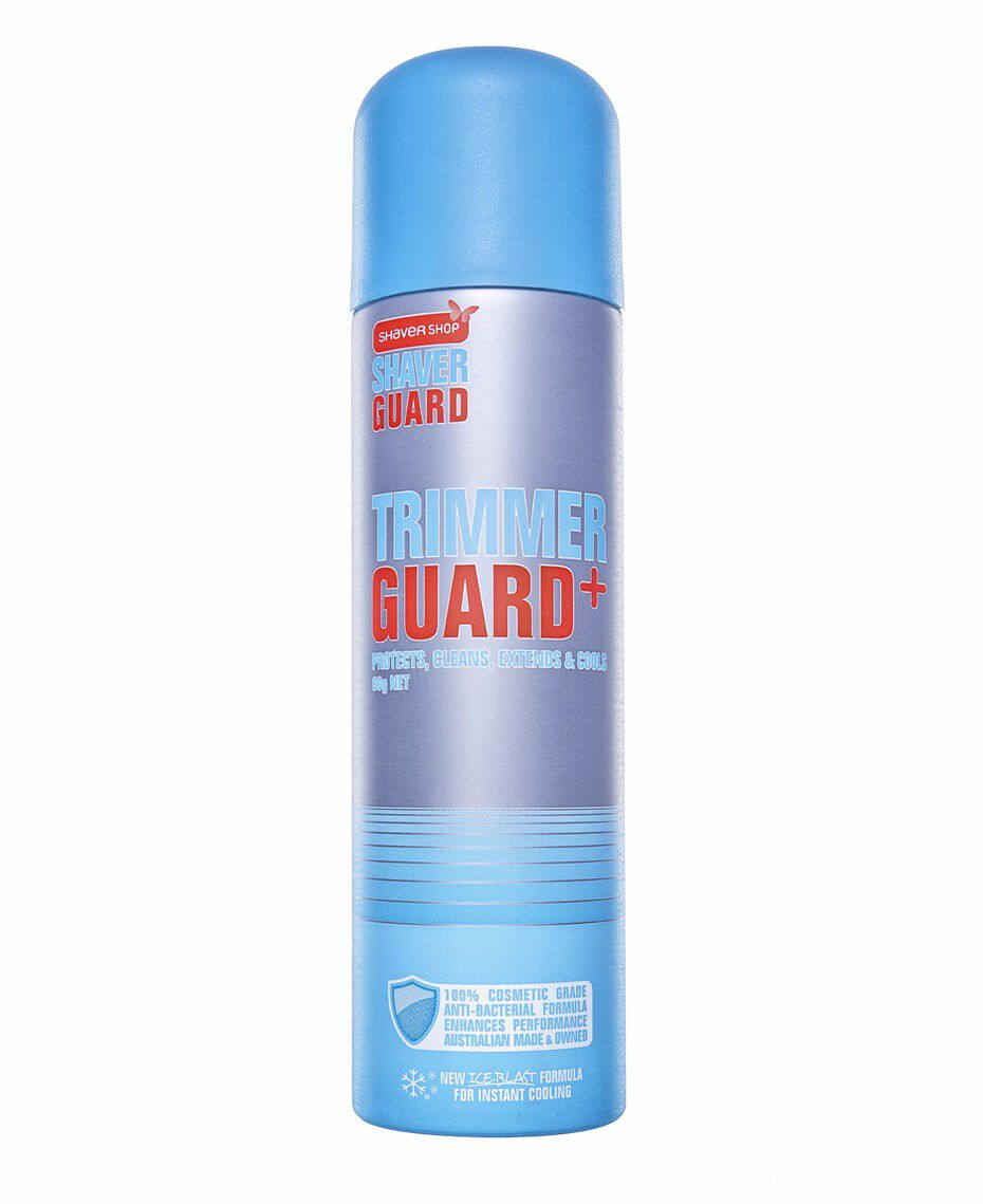 shaver guard trimmer guard lubricant cleaning spray shaver shop. Black Bedroom Furniture Sets. Home Design Ideas